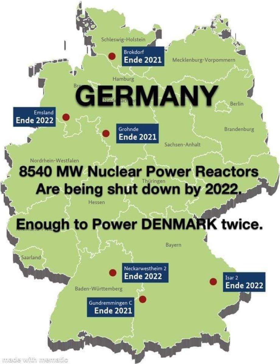 GER6 - die letzten aktiven Kernkraftwerke in Deutschland