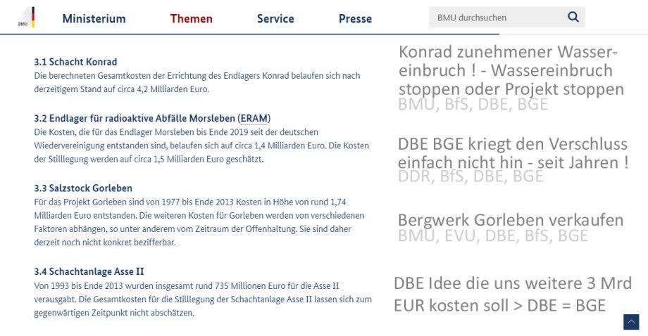 Die erschreckende DBE / BGE Bilanz - alles mit dem Segen der SPD