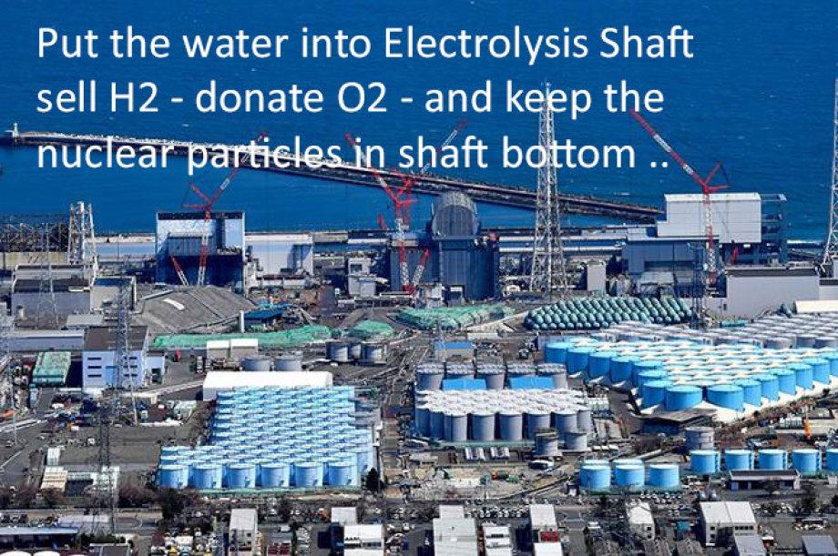 Electrolysis Fukushima Water Problem Solution