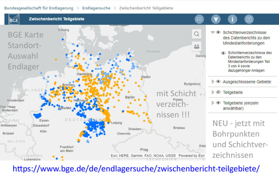 >>> Neu BGE Geologie-Karte (interaktiv) jetzt mit Schicht-Verzeichnissen !!! - Bohrpunkt-Karte, Schicht-Verzeichnisse https://lnkd.in/di8ZCcx - #BGE #Geologie #Karte #Endlager #Bohrpunkte #Schichtverzeichnisse