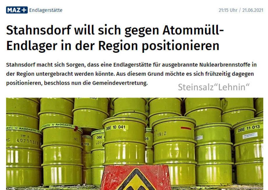 https://www.maz-online.de/Lokales/Potsdam-Mittelmark/Stahnsdorf/Stahnsdorf-will-sich-gegen-Atommuell-Endlager-in-der-Region-positionieren