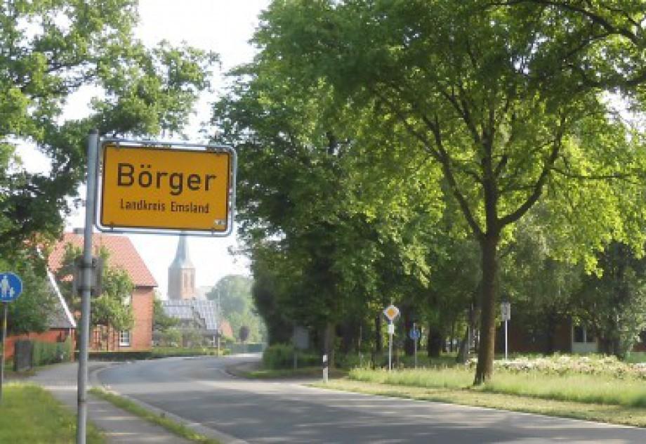 Ortschild Börger - Landkreis Emsland - Niedersachsen - Deutschland