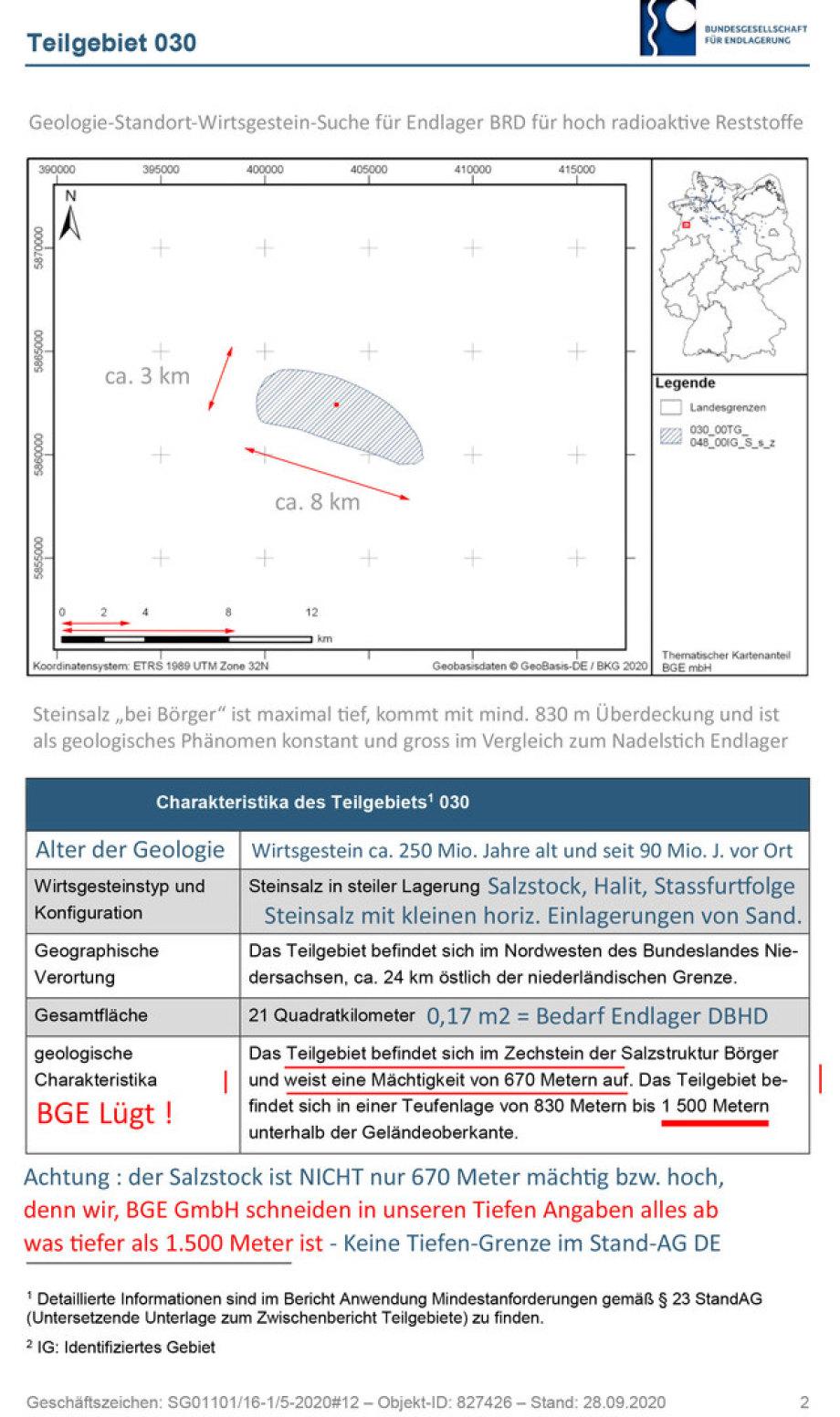 Geologie-Kurz-Beschreibung Steinsalz Börger von der BGE mit Ergänzungen von Ing. Goebel - Kunstwerk