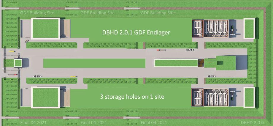 Oberirdische Anlagen DBHD kurz vor dem Gesamt-Rückbau nach ca. 25 Jahren und 3 Löchern