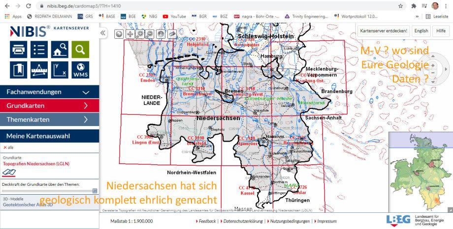 Niedersachsen hat sich geologisch komplett ehrlich gemacht