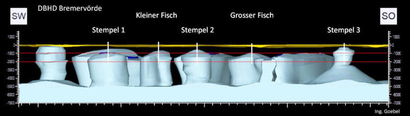 Die schöne Steinsalz-Formation der Welt liegt in der Region Bremer-Voerde
