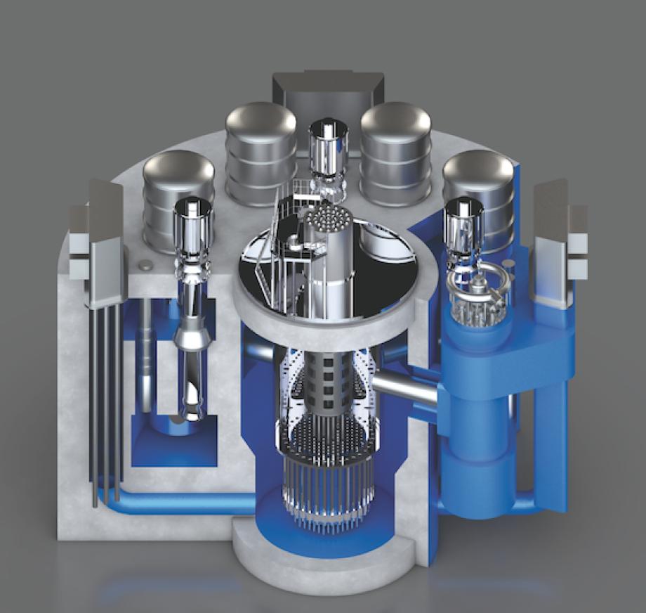 Prinzip-Zeichnung Brest 300 - ein kleiner Reaktor - 700 MW brutto und nur 300 MW netto