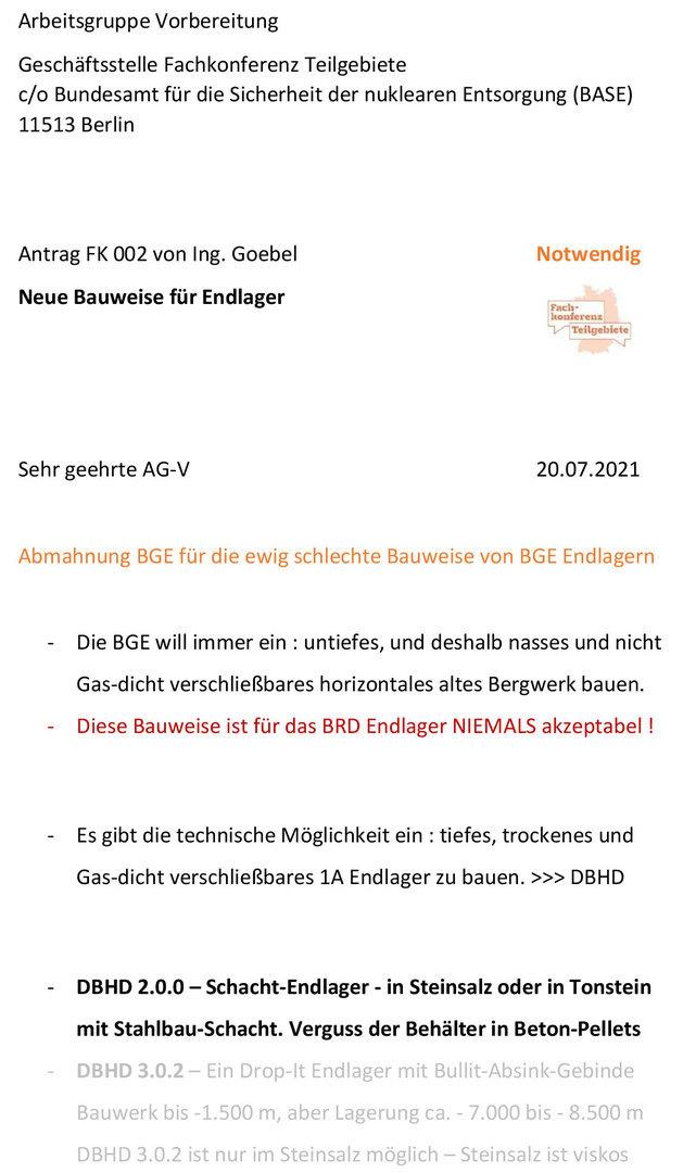 Kritik an der BGE GmbH - deren schlechte Bauweise führt in eine weitere Endlager-Zugangs-Bauwerk-Katastrophe