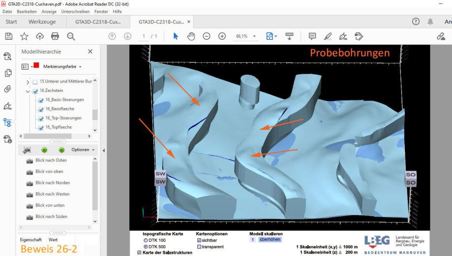 3D Bild Steinsalz im Blatt Cuxhaven - Standort-Auswahl für Endlager