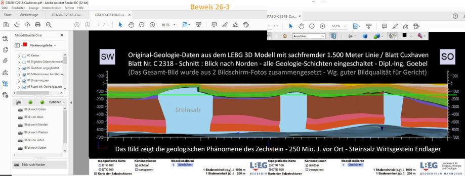 Schnitt mit Steinsalz-Phänomenen - Blatt Cuxhaven - Standort-Auswahl für Endlager DE