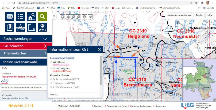 Blatt Esens - Standort-Auswahl für Endlager - LBEG 3D Geodaten-Modell
