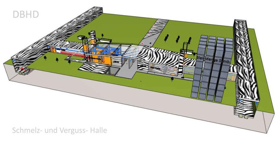 Schmelz- und Verguss-Halle für alle DBHD Endlager
