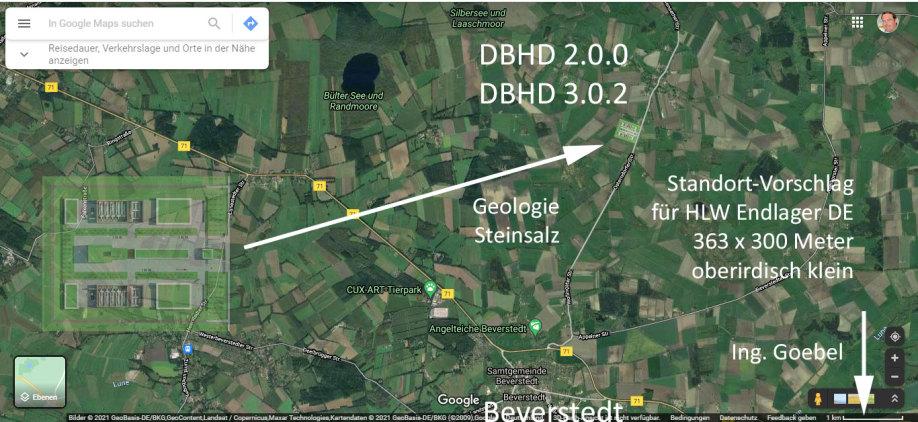 Standort Vorschlag bei Beverstedt für DBHD 2.0.0 oder DBHD 3.0.2 von Volker Goebel Dipl.-Ing. Arch.