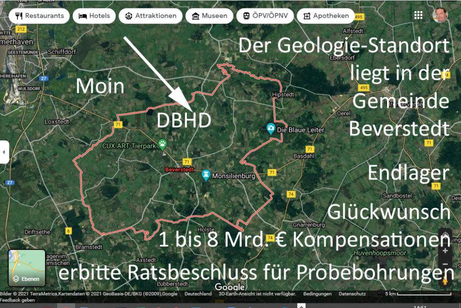 Moin Beverstedt - Geologie Gewinner - hohe Kompensationen möglich - MfG Ing. Goebel