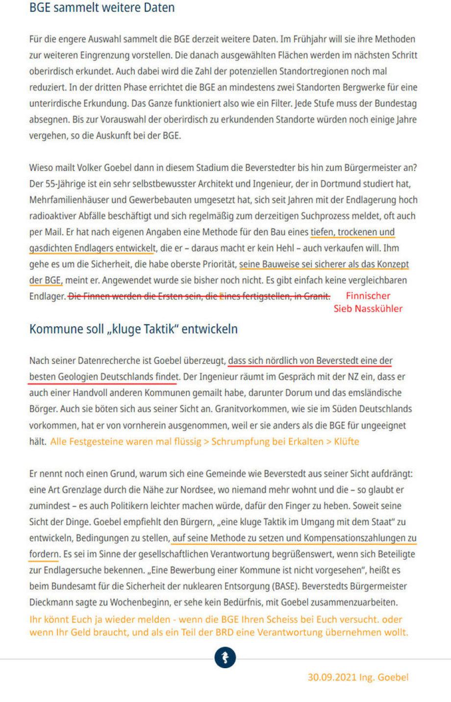 2-2_Artikel_Kikker_Nordsee-Zeitung-Endlager bei Beverstedt