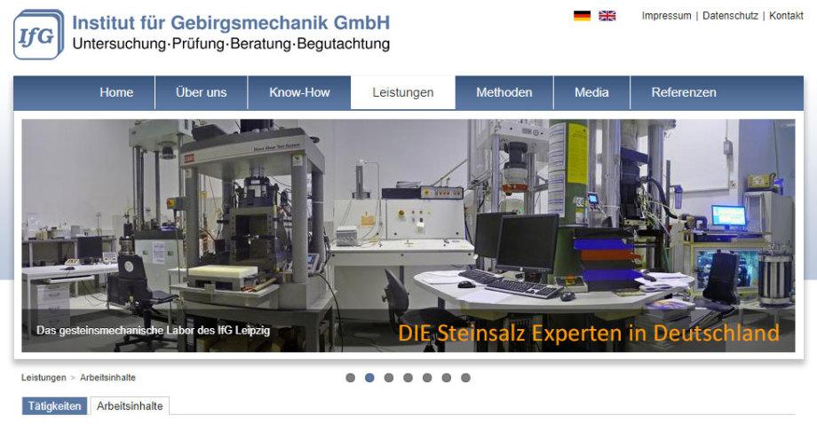 IFG Leipzig - DIE Experten für Steinsalz (neben K+S)