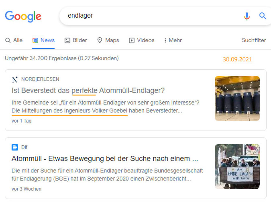 Goebel in Google News - oh ha