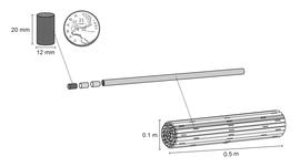 Candu fuel rods / fuel bundles