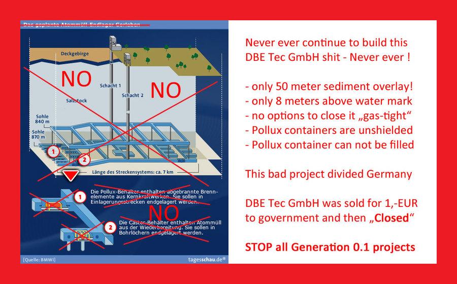 Stop_Gorleben_DBE_Tec_GmbH_SHIT - Nazi-Projekt Richtstrecke