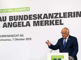 07 Okt 2019 Kanzlerin Merkel besucht Fa. Herrenknecht