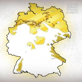 Karte Wirtsgesteine Endlager Deutschland - DBHD Standort bei Glasin