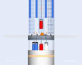 Seitenansicht Castor Verguss im DBHD 1.4.3 wassergekühlte Baustelle