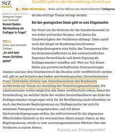 Minister Franz Untersteller (Grüne) verweist das Geodaten-Gesetz in den Vermittlungs-Ausschuss