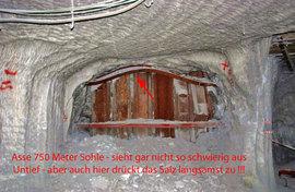 Foto 750 Meter Sohle in der Asse - das Salz drückt zu - Preisgeld 10.000 EUR für den der die ersten 12 Fässer rausholt