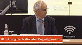 Herr Dr. Klaus Töpfer in der 38. NBG Sitzung - Abschied - Danke