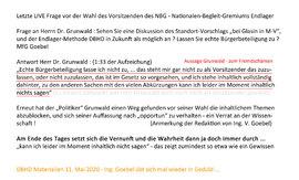 Dr. Grunwald leugnet Glasin und DBHD