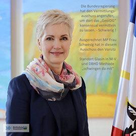Frau MP Schwesig vor grossen Herausforderungen im Vermittlungs-Ausschuss Bundesrat-Bundestag