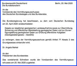 Bundesregierung ruft den Vermittlungs-Ausschuss an 20.05.2020