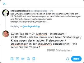 26.05.2020 Endlager Sicherheits Anforderungs Verordnung im Umwelt-Ausschuss - Bundestag