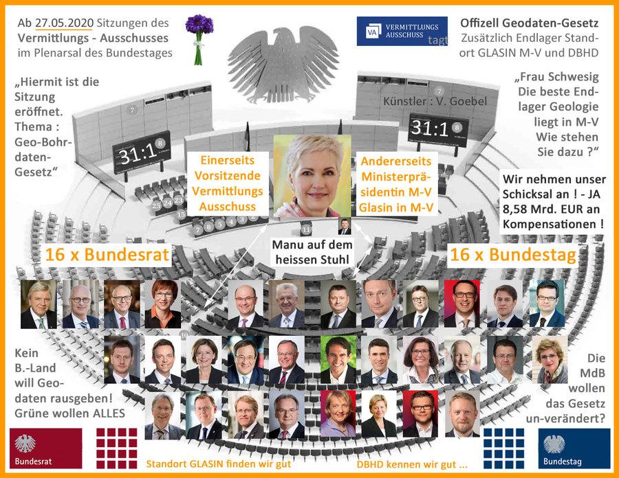 27.05.2020 - Sitzung des Vermittlungs-Ausschusses zum Geodaten-Gesetz im Plenarsaal #geodatengesetz #future #architektur #endlager