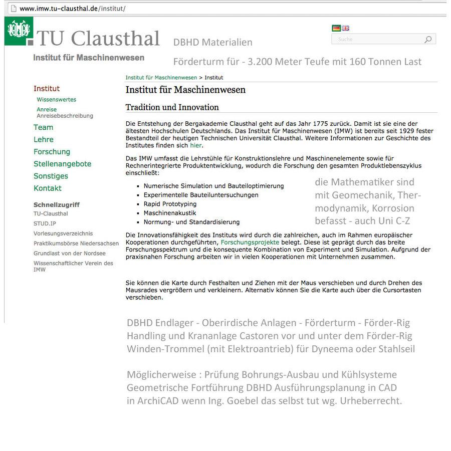 Die Uni Clausthal kann viel für DBHD tun - Dritt-Mittel notwendig