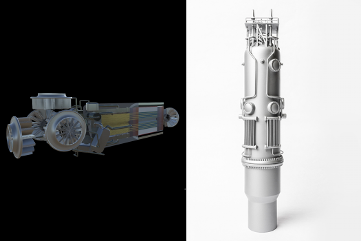 on the right in white - small modular reactor vessel - welded 20 mm V4a vessel - Good