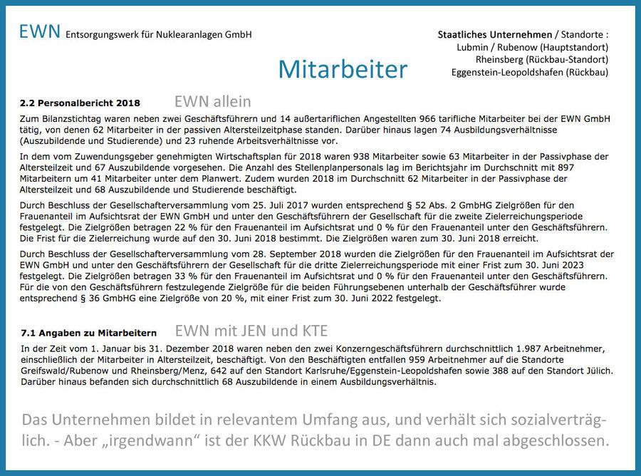 >>> Die EWN GmbH - das DE Nuklear-Rück-Bau-Unternehmen - zerlegen, dampf-reinigen, freimessen und zurück in den Material-Kreislauf - hier die Personal-Liste - #EWN #Decommissioning #Germany