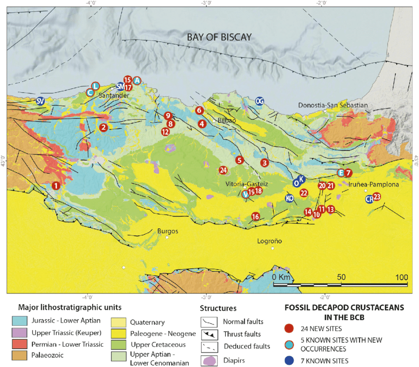 Spain_Diapirs_Simplified-geological-map-of-the-Western-Pyrenean-area-The-area-between-the-Paleozoic