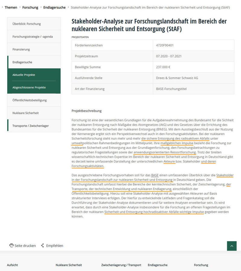 StAF BASE Forschung Stakeholer-Forscher Befragung