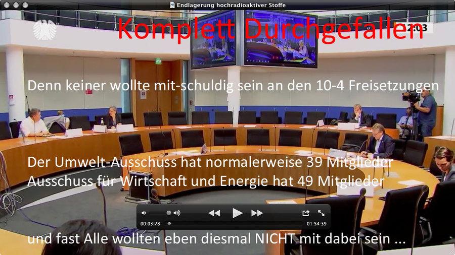Nur der Bundestag kann die 10-4 Freisetzungen aus der EndLSiAnfV wieder heraus-korrigieren !!! - Sonst kein Einlager - Niemals !!!