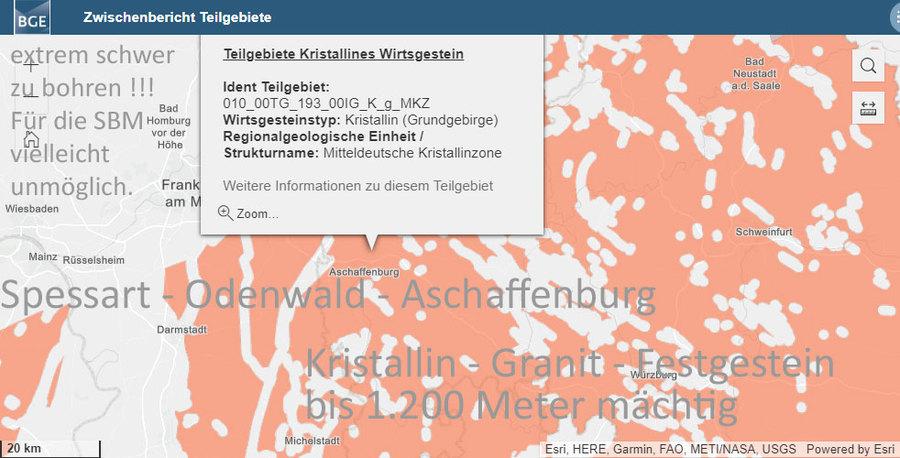 >>> Spessart-Odenwald-Aschaffenburg-Kristallin-Granit-Festgestein bis zu 1.200 Meter mächtig - Bohren fällt schwer - da muss man sich reinsprengen !? - #Spessart #Odenwald #Bayern #Hessen #BGE -on website : https://lnkd.in/ddZFnDG
