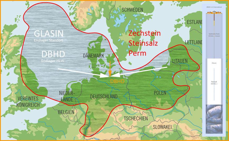 """Endlager-Teilgebiet """"bei Glasin"""" Vorschlag von Ing. Goebel / Endlager-Fachplaner DBHD"""