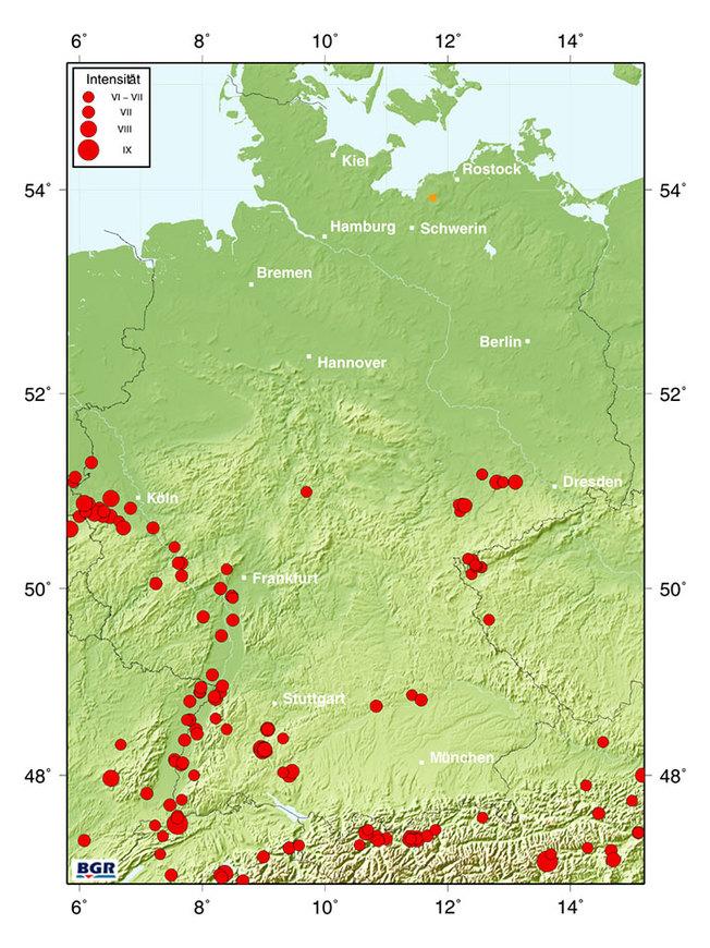 und noch eine Erdbeben-Karte - diesmal von der BGR