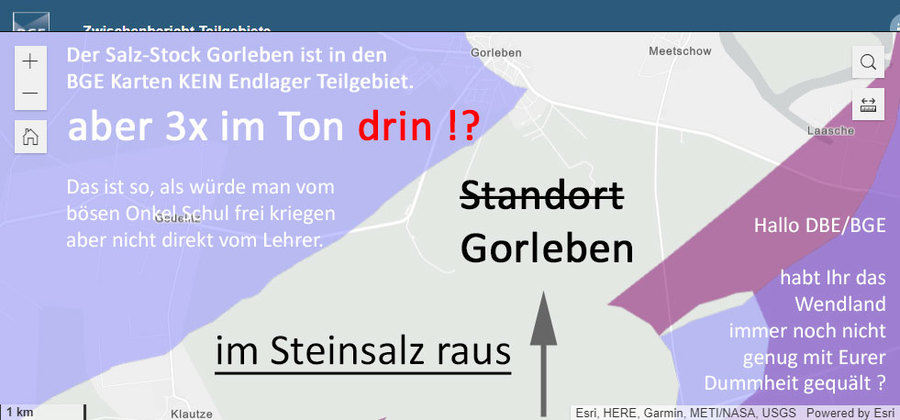 39 Min. •  vor 39 Minuten  >>> Gorleben in den super dämlichen BGE Karten. - Gorleben im Steinsalz raus - aber dafür 3x im Tonstein drin - Ein Verlust an möglicher Sicherheit - die BGE ist schwachsinnig - #BGE #Schwachsinn #Gorleben - https://lnkd.in/dA32