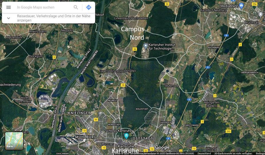 Vorbereitung Abriss alte Versuchs-Reaktoren im Stadtwald von Karlsruhe