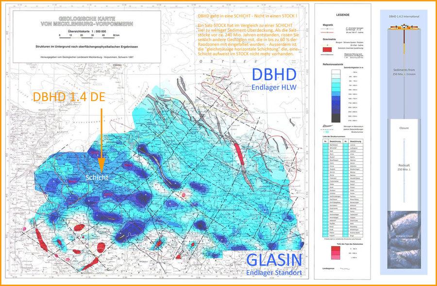 DBHD Endlager Standort in der geologischen Steinsalz-Karte M-V