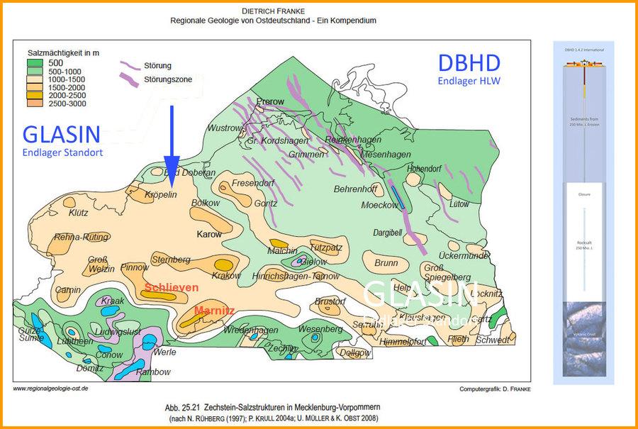Allgemeine Karte des Steinsalzes in Mecklenburg-Vorpommern