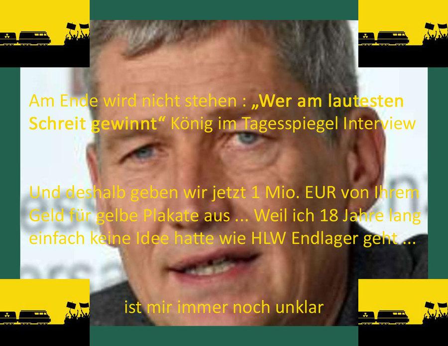 Wer am lautesten Schreit soll nicht gewinnen - und gibt dann 1 Mio. EUR für Plakate aus
