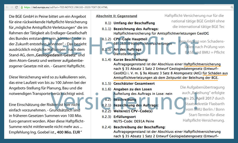 Empfehlung-Haftpflicht-Summe_BGE_GmbH von Ing. Goebel