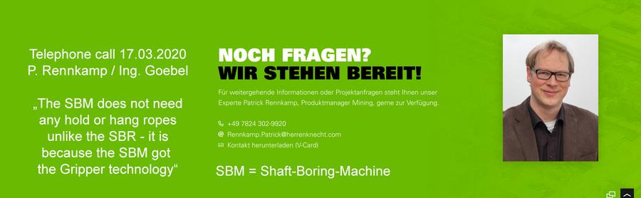 """>>> Herrenknecht AG - """"SBM braucht keine Tragseile"""""""